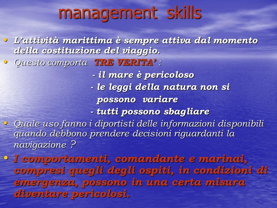 management skills management skills Lattività marittima è sempre attiva dal momento della costituzione del viaggio.