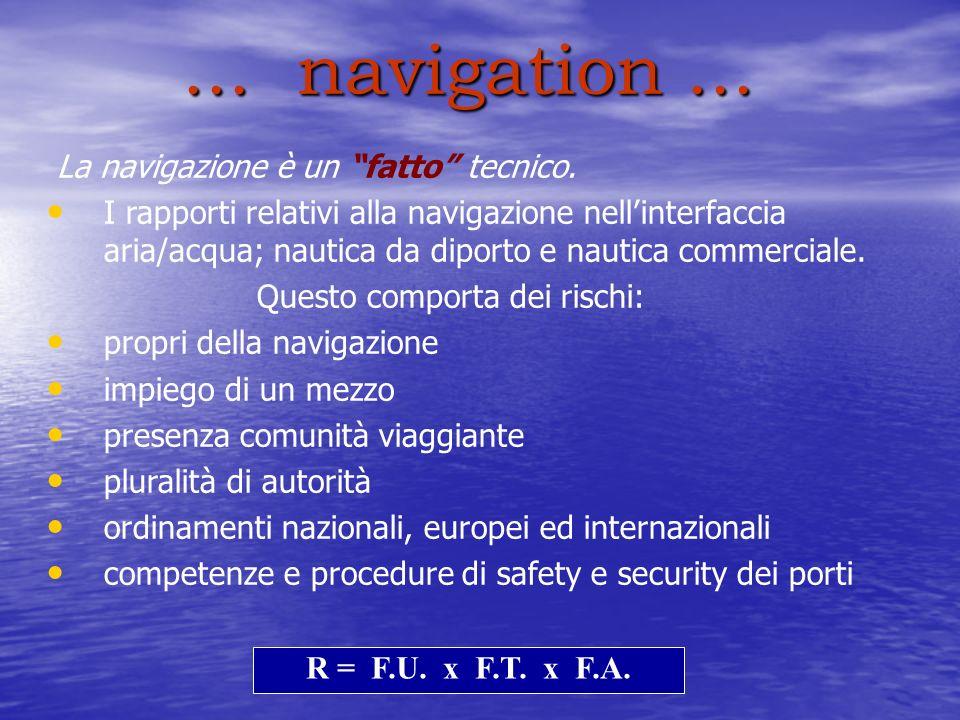 ...navigation... La navigazione è un fatto tecnico.