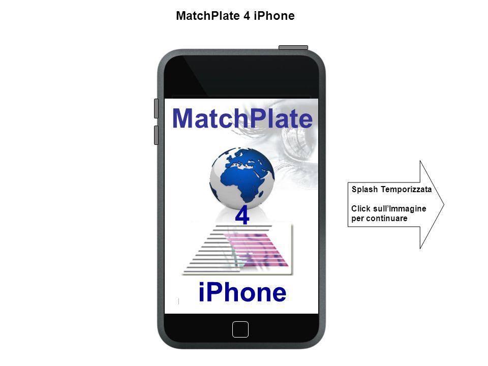 Login Username Password Conferma MatchPlate 4 iPhone Ingresso allapplicativo Controllo Locale