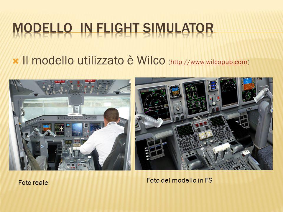 Il modello utilizzato è Wilco (http://www.wilcopub.com)http://www.wilcopub.com Foto reale Foto del modello in FS