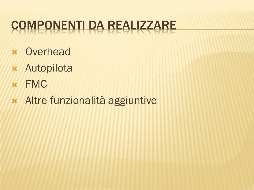 Overhead Autopilota FMC Altre funzionalità aggiuntive