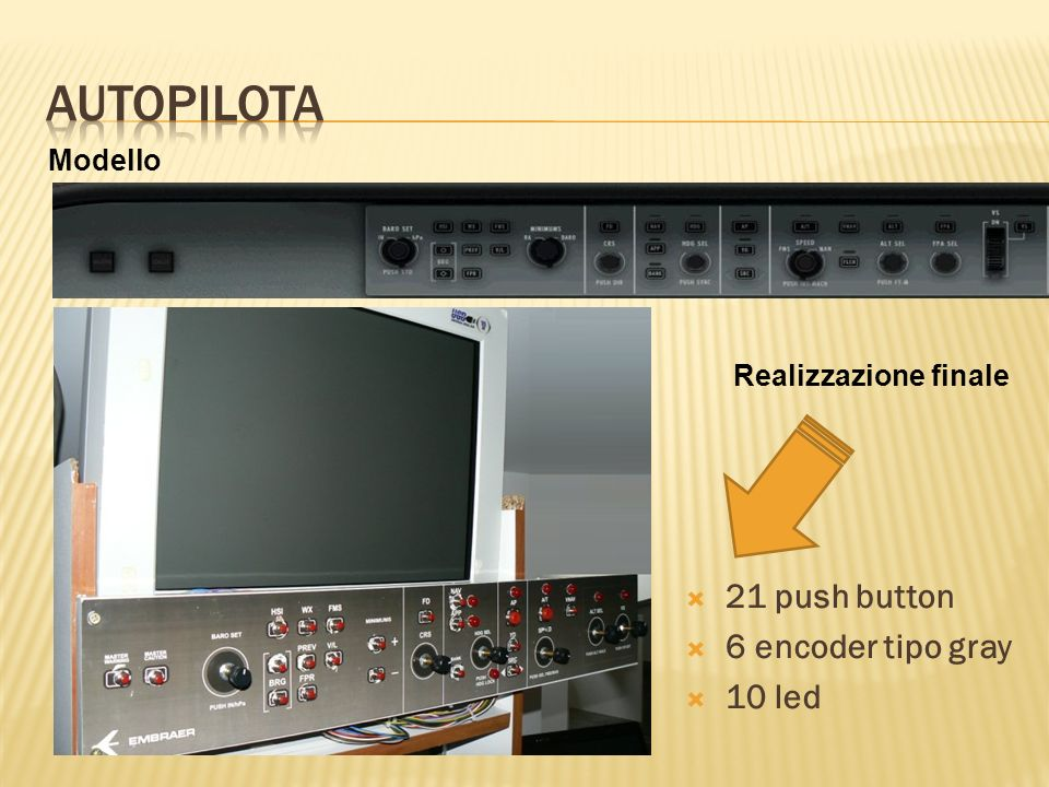 Modello Realizzazione finale 21 push button 6 encoder tipo gray 10 led
