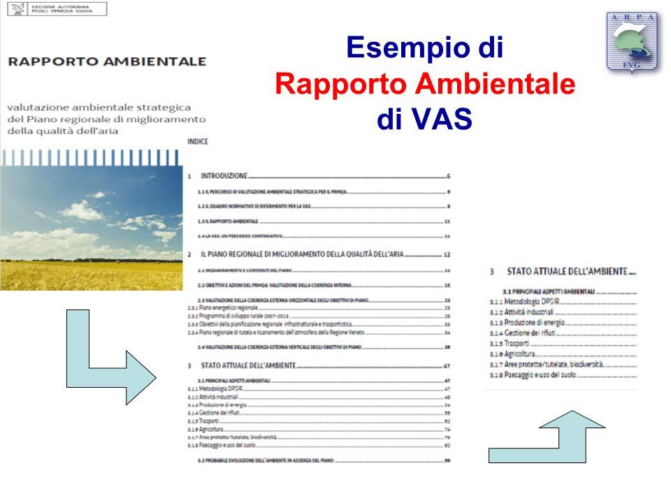 Esempio di Rapporto Ambientale di VAS