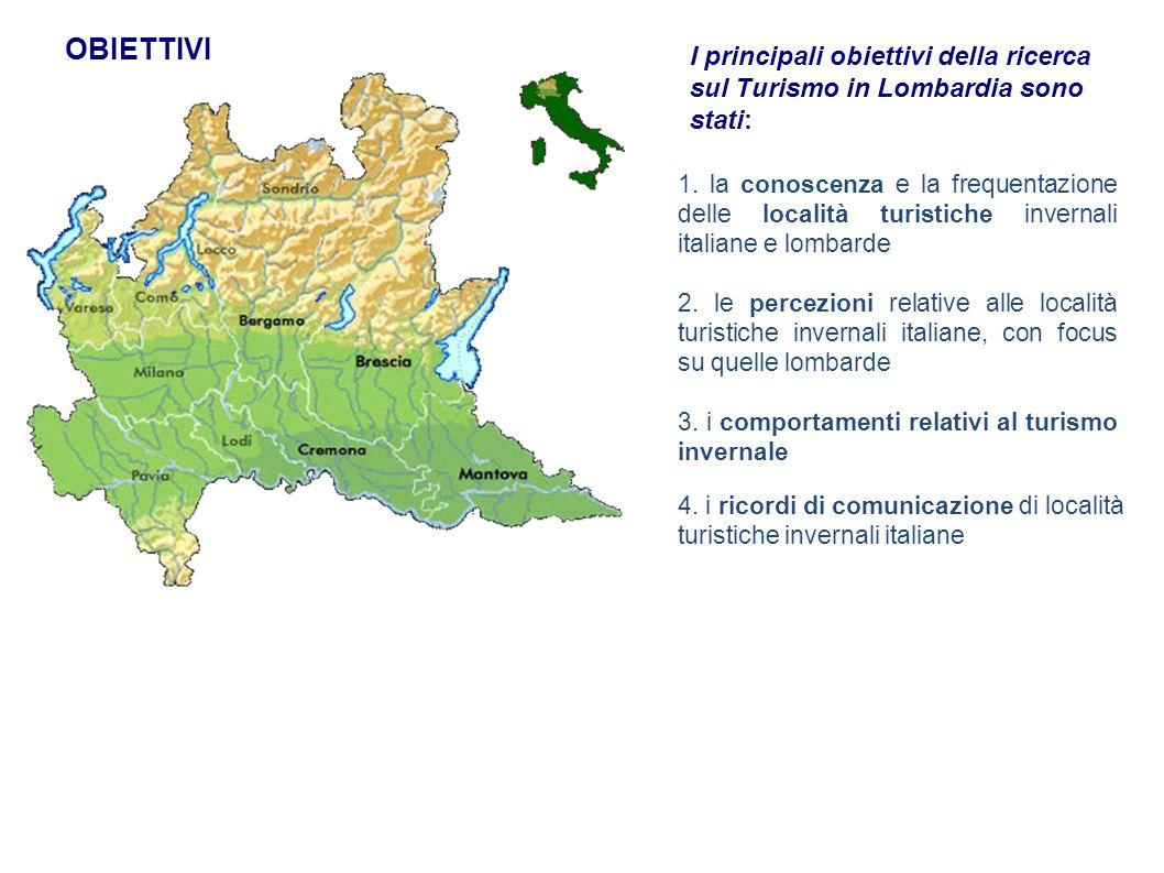 OBIETTIVI I principali obiettivi della ricerca sul Turismo in Lombardia sono stati: 1.