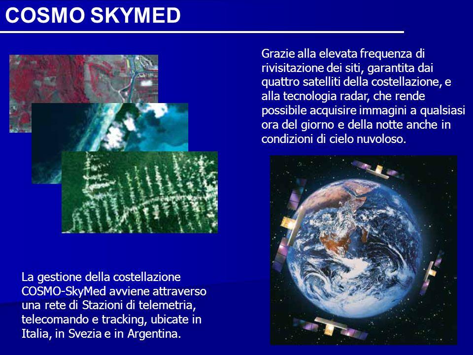 Grazie alla elevata frequenza di rivisitazione dei siti, garantita dai quattro satelliti della costellazione, e alla tecnologia radar, che rende possi