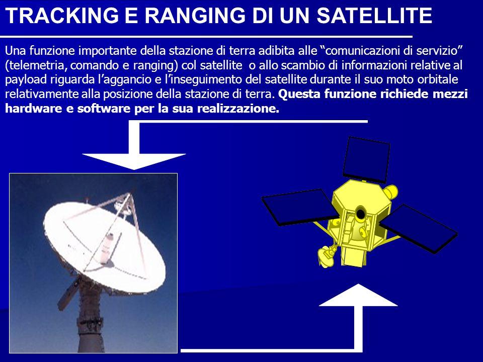 TRACKING E RANGING DI UN SATELLITE Una funzione importante della stazione di terra adibita alle comunicazioni di servizio (telemetria, comando e rangi
