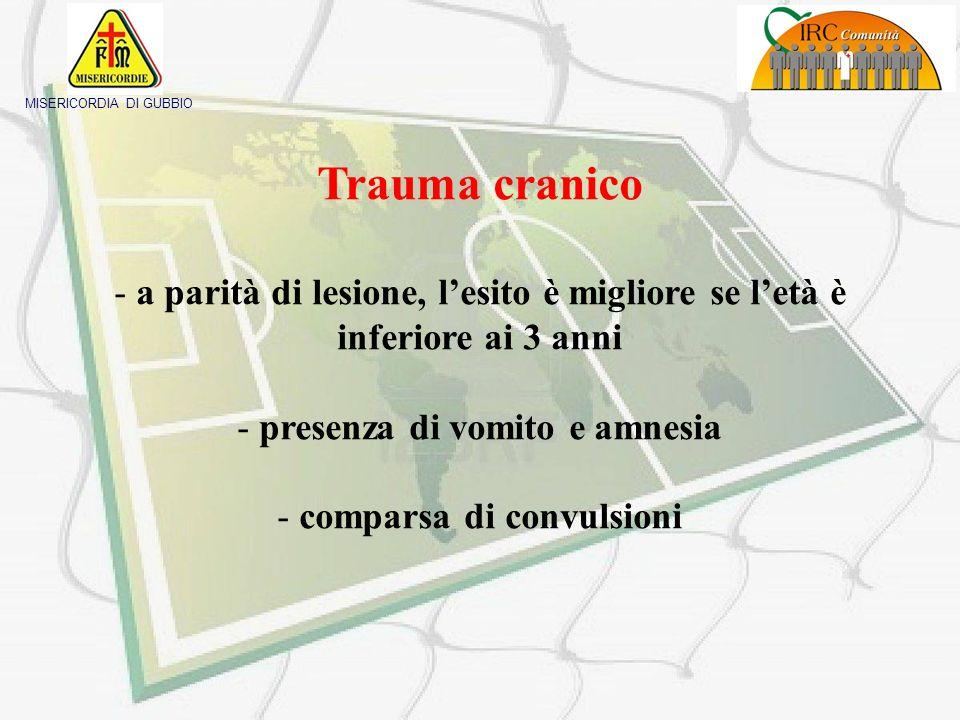 MISERICORDIA DI GUBBIO Priorità nel trattamento del trauma in età pediatrica - Trattamento vie aeree - Prevenzione Shock - Mantenimento temperatura co
