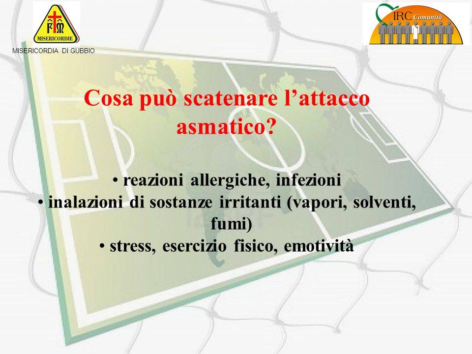 MISERICORDIA DI GUBBIO Cosè: è una difficoltà respiratoria improvvisa, causata da spasmo della muscolatura bronchiale, con conseguente riduzione del c