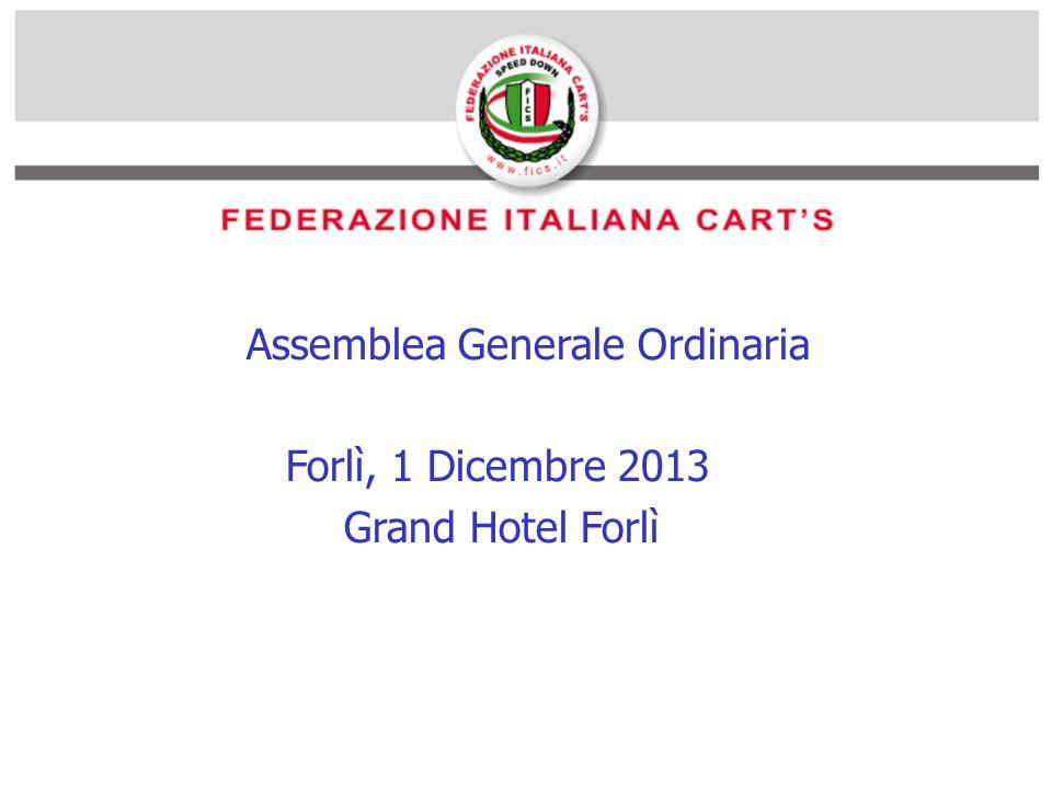 Assemblea Generale Ordinaria Forlì, 1 Dicembre 2013 Grand Hotel Forlì