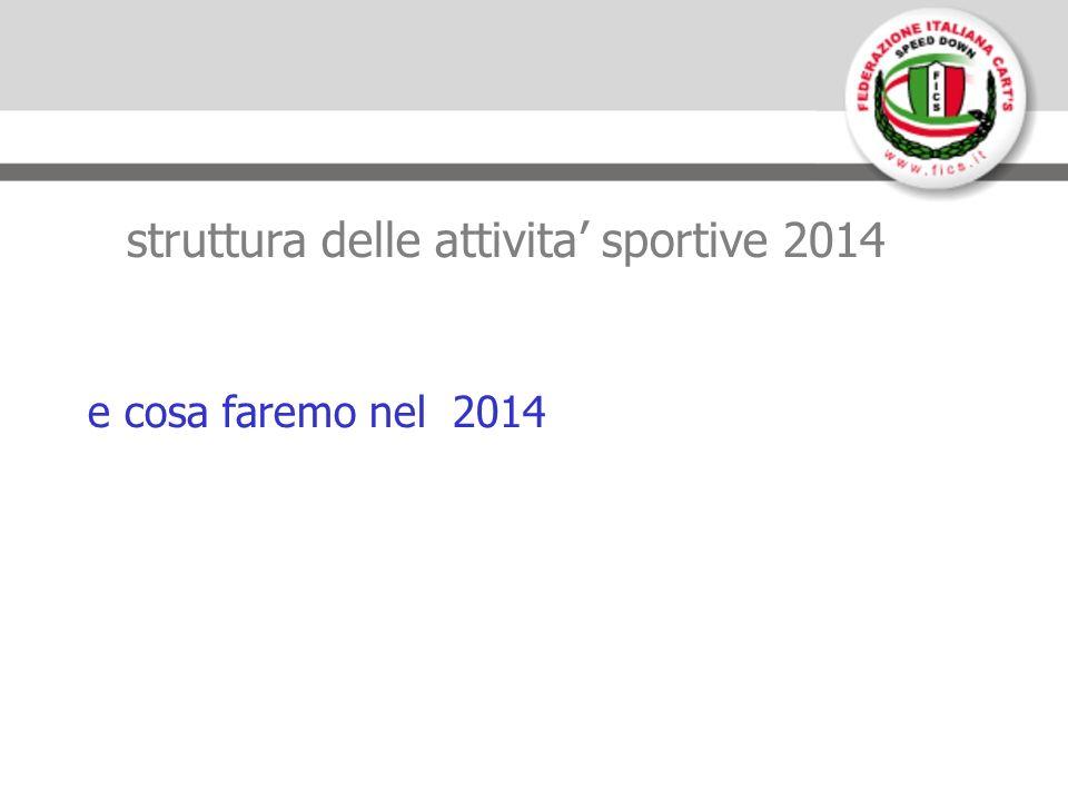 struttura delle attivita sportive 2014 e cosa faremo nel 2014