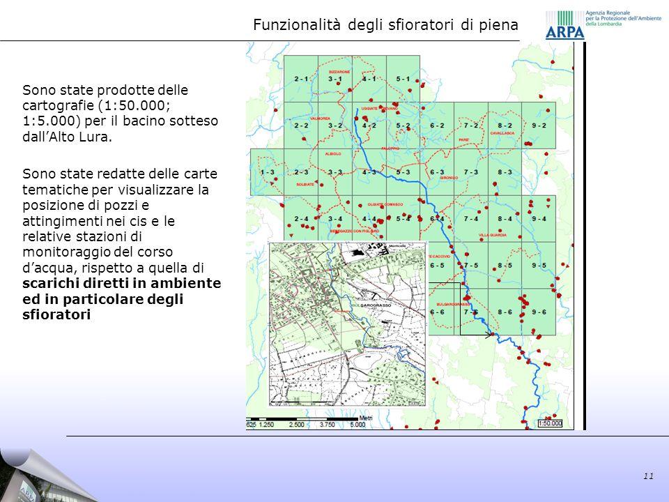 Sono state prodotte delle cartografie (1:50.000; 1:5.000) per il bacino sotteso dallAlto Lura. Sono state redatte delle carte tematiche per visualizza