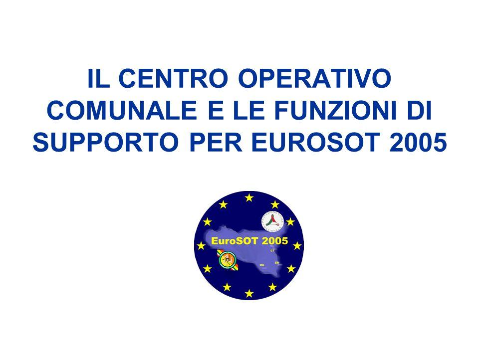 IL CENTRO OPERATIVO COMUNALE E LE FUNZIONI DI SUPPORTO PER EUROSOT 2005