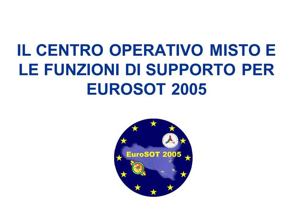 IL CENTRO OPERATIVO MISTO E LE FUNZIONI DI SUPPORTO PER EUROSOT 2005