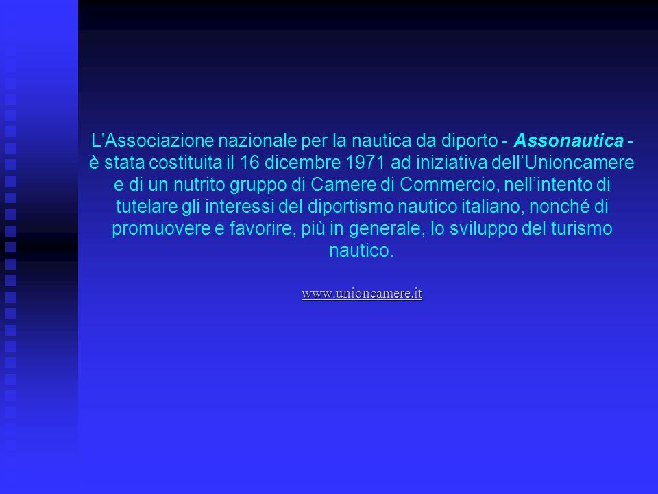 Attualmente sono associate allAssonautica, oltre allUnione nazionale delle Camere di Commercio (Unioncamere), allIstituto Tagliacarne, allUCINA, a Isyba, alla Nautital S.r.l., a Mare Nostrum Srl e le Unioni regionali camerali della Lombardia e Puglia, 41 Camere di Commercio.