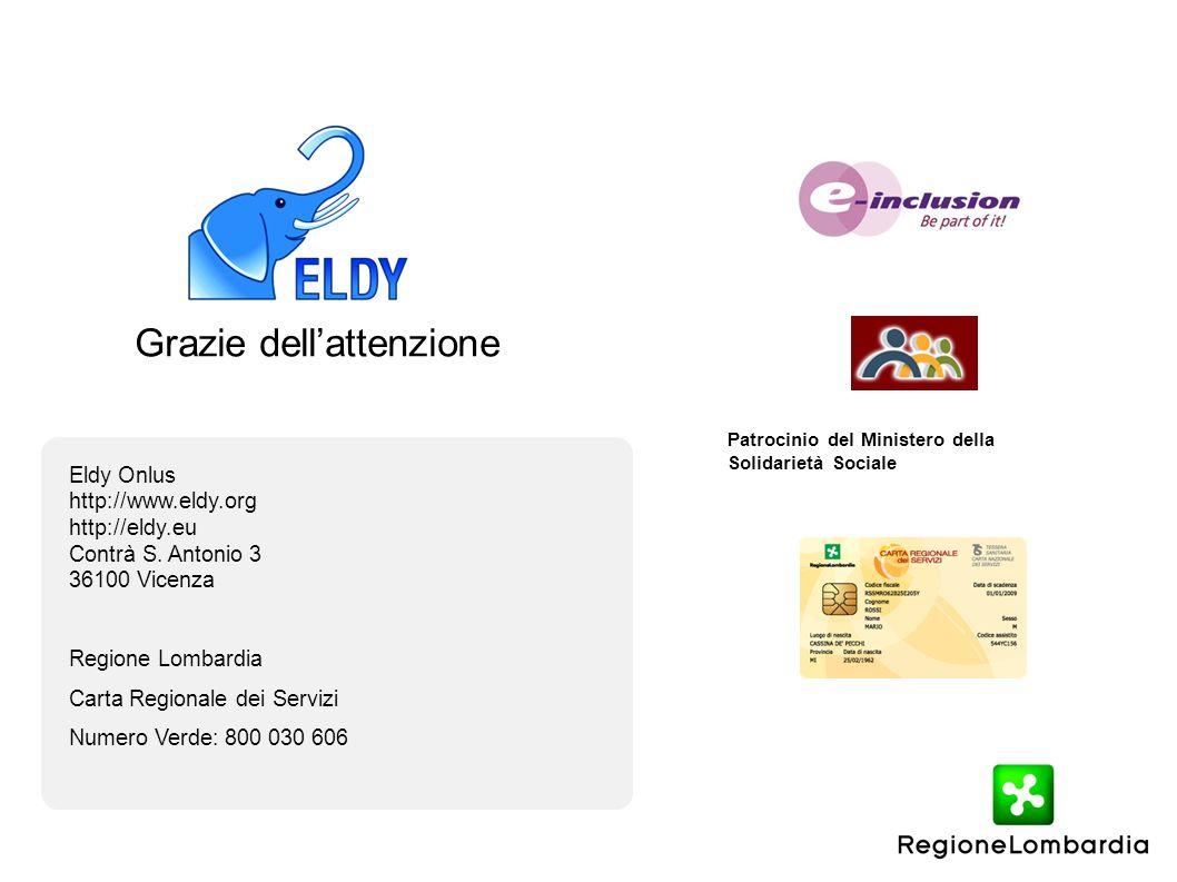 Grazie dellattenzione Eldy Onlus http://www.eldy.org http://eldy.eu Contrà S.