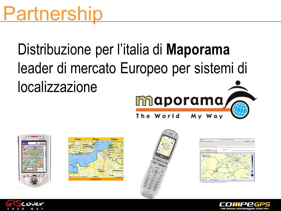 Partnership Distribuzione per litalia di Maporama leader di mercato Europeo per sistemi di localizzazione