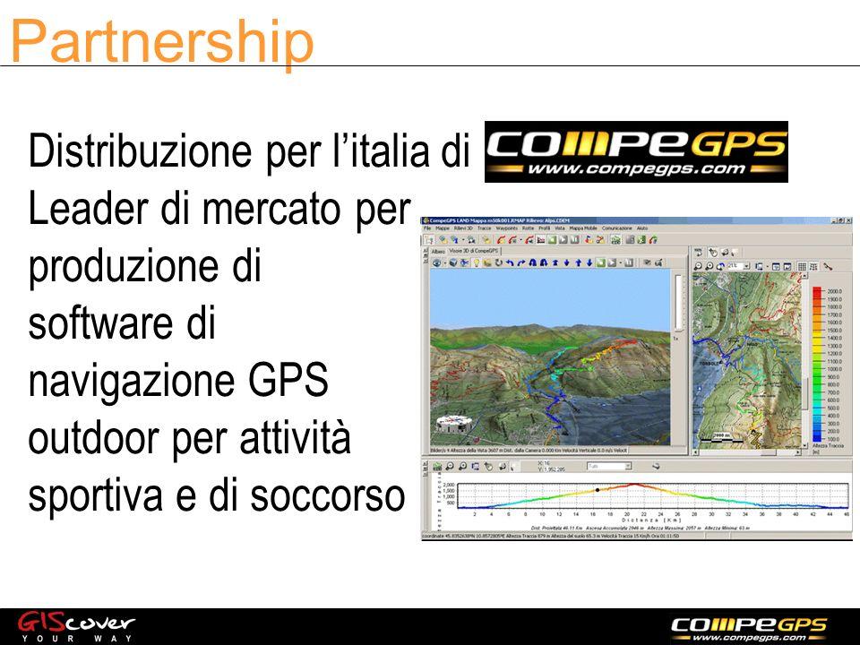 Partnership Distribuzione per litalia di Leader di mercato per produzione di software di navigazione GPS outdoor per attività sportiva e di soccorso