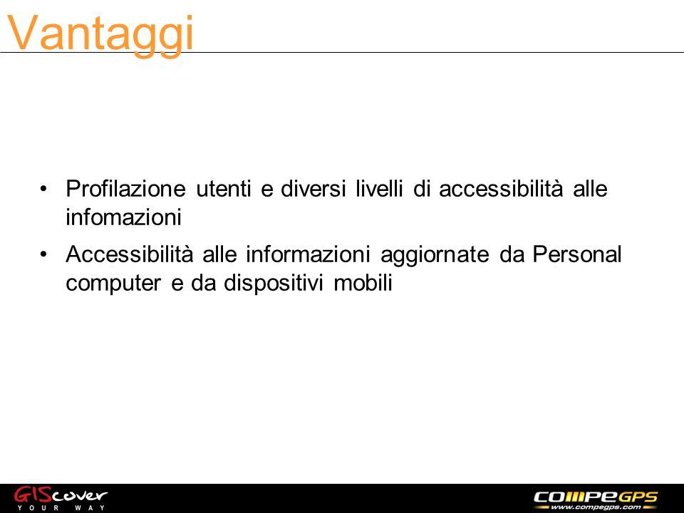 Profilazione utenti e diversi livelli di accessibilità alle infomazioni Accessibilità alle informazioni aggiornate da Personal computer e da dispositivi mobili Vantaggi