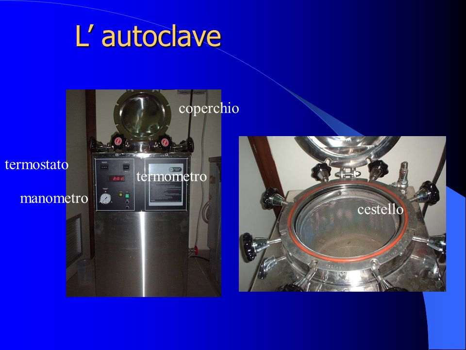 L autoclave manometro termometro termostato cestello coperchio