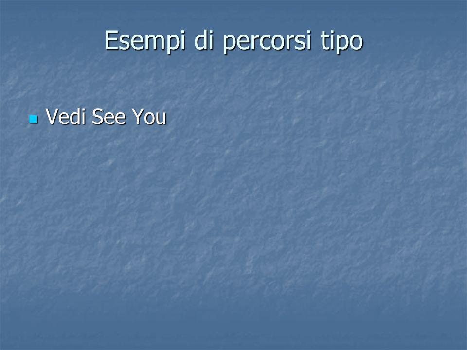 Esempi di percorsi tipo Vedi See You Vedi See You