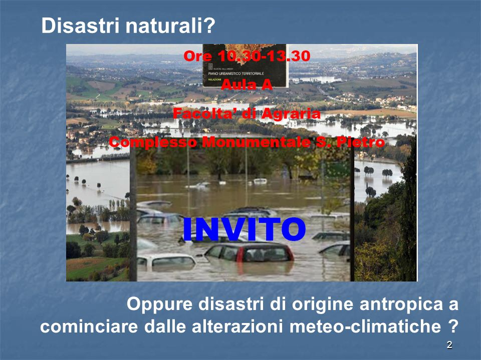 2 Disastri naturali.