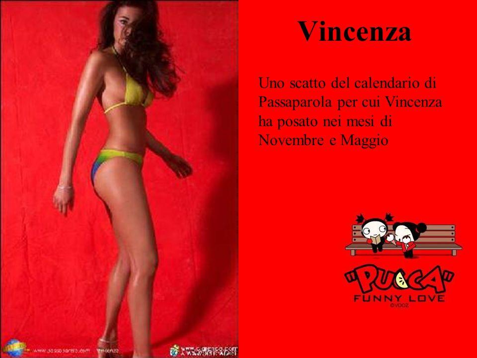Vincenza Uno scatto del calendario di Passaparola per cui Vincenza ha posato nei mesi di Novembre e Maggio