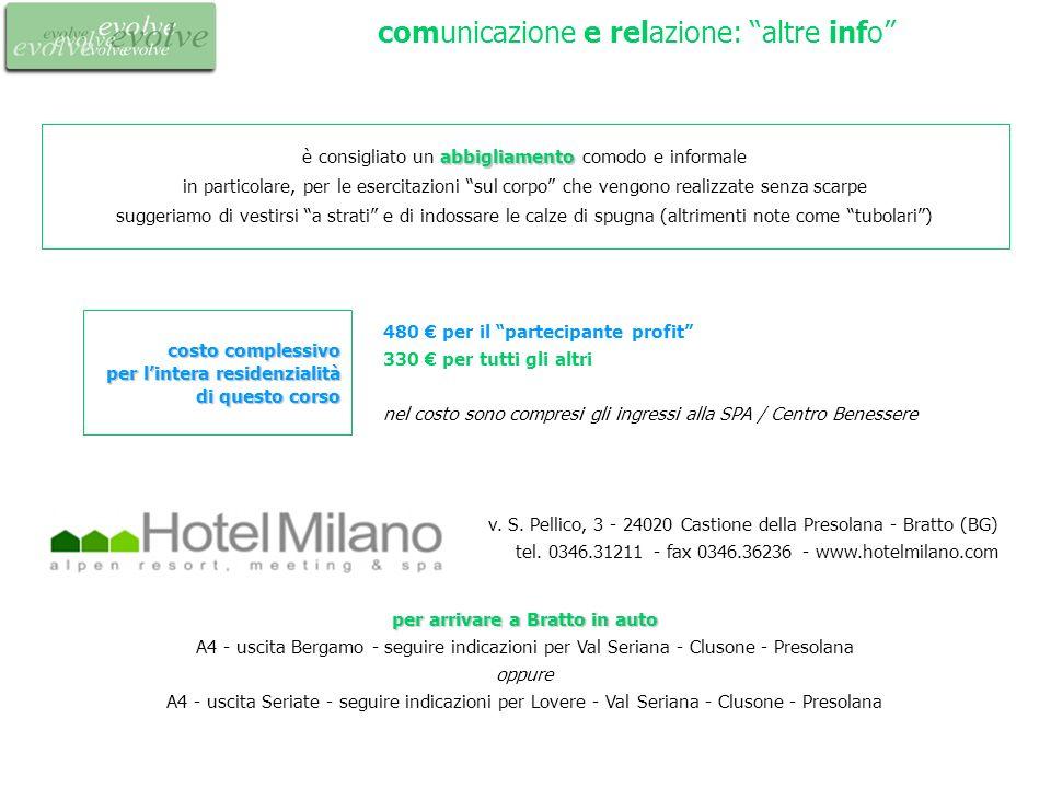 comunicazione e relazione: altre info per arrivare a Bratto in auto per arrivare a Bratto in auto A4 - uscita Bergamo - seguire indicazioni per Val Se