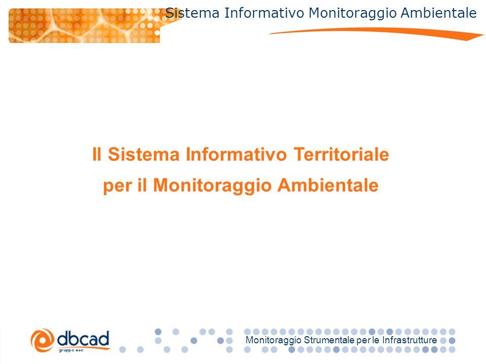Titolo Monitoraggio Strumentale per le Infrastrutture Sistema Informativo Monitoraggio Ambientale Il Sistema Informativo Territoriale per il Monitoraggio Ambientale