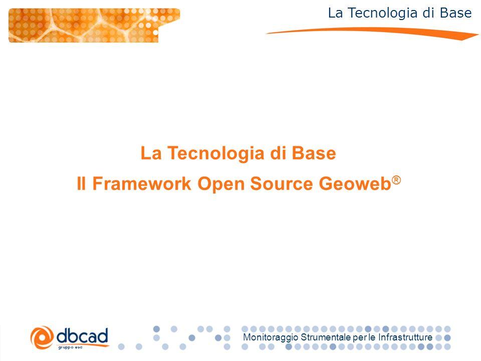 Titolo Monitoraggio Strumentale per le Infrastrutture La Tecnologia di Base Il Framework Open Source Geoweb ®