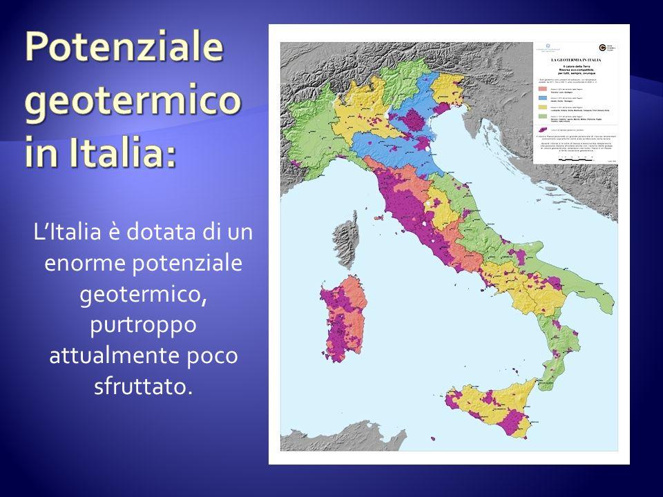 LItalia è dotata di un enorme potenziale geotermico, purtroppo attualmente poco sfruttato.