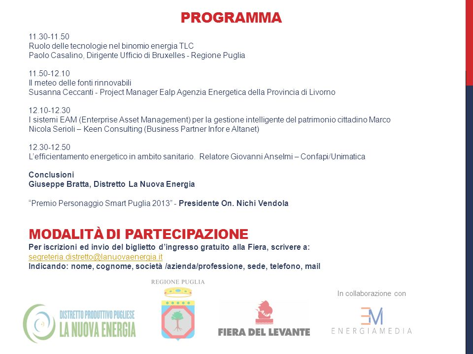In collaborazione con: Sponsor premio SMART: