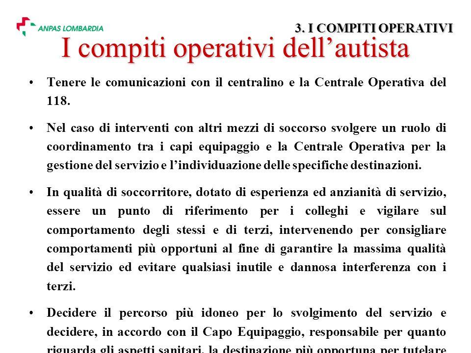 Tenere le comunicazioni con il centralino e la Centrale Operativa del 118.