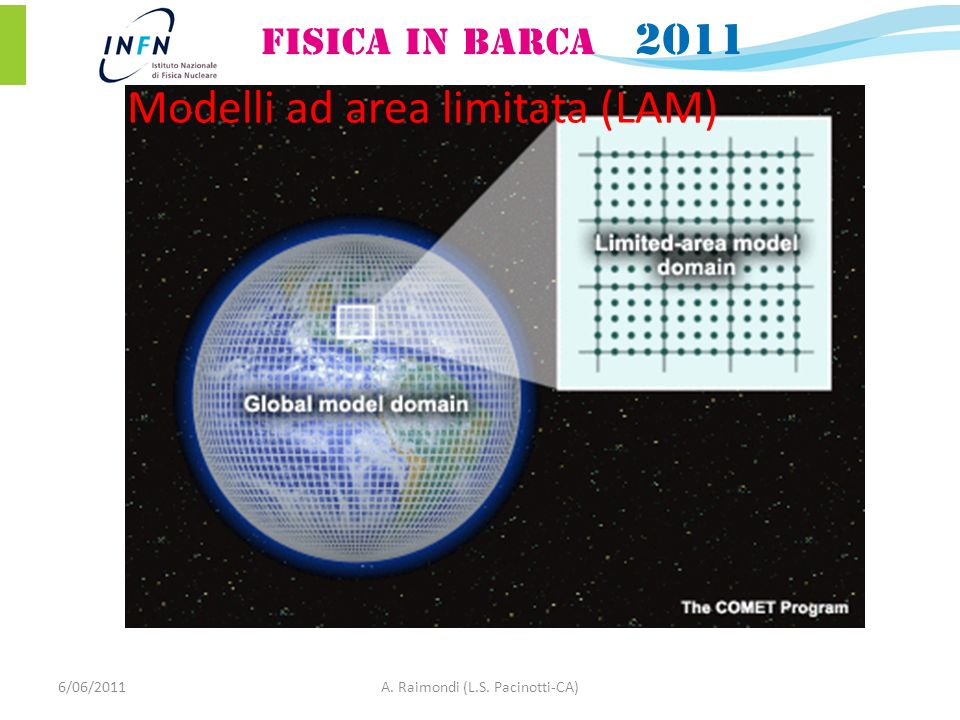 Modelli ad area limitata (LAM) 6/06/2011A. Raimondi (L.S. Pacinotti-CA)