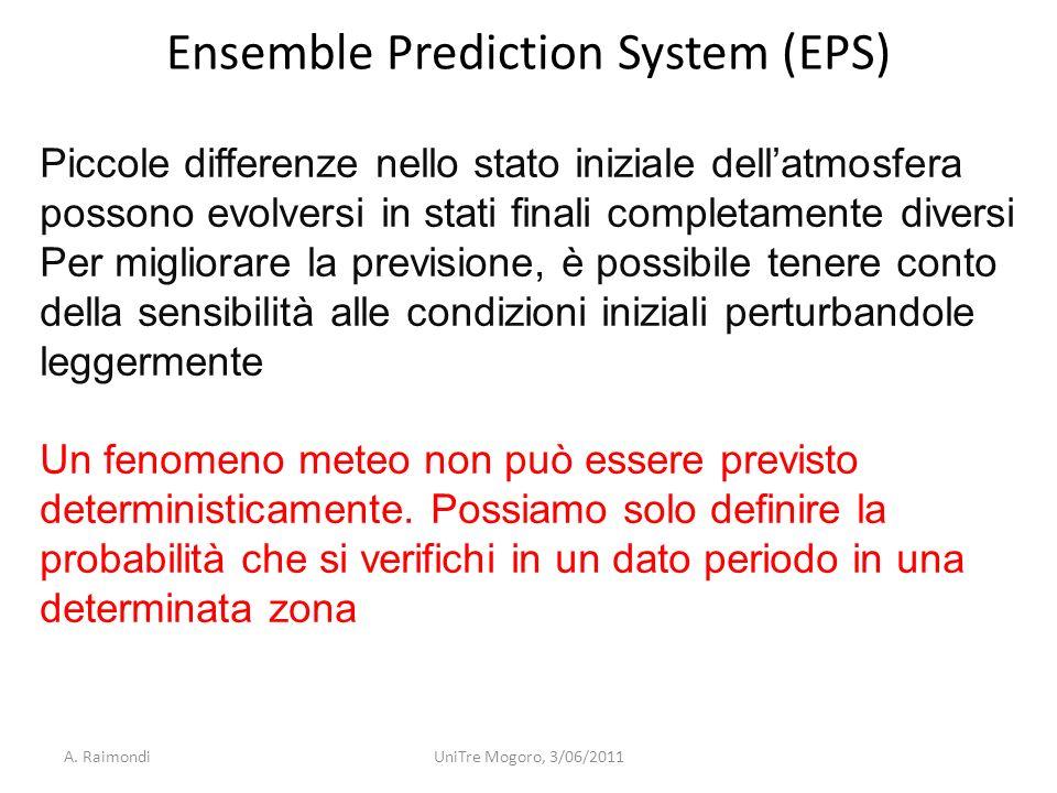Piccole differenze nello stato iniziale dellatmosfera possono evolversi in stati finali completamente diversi Per migliorare la previsione, è possibil