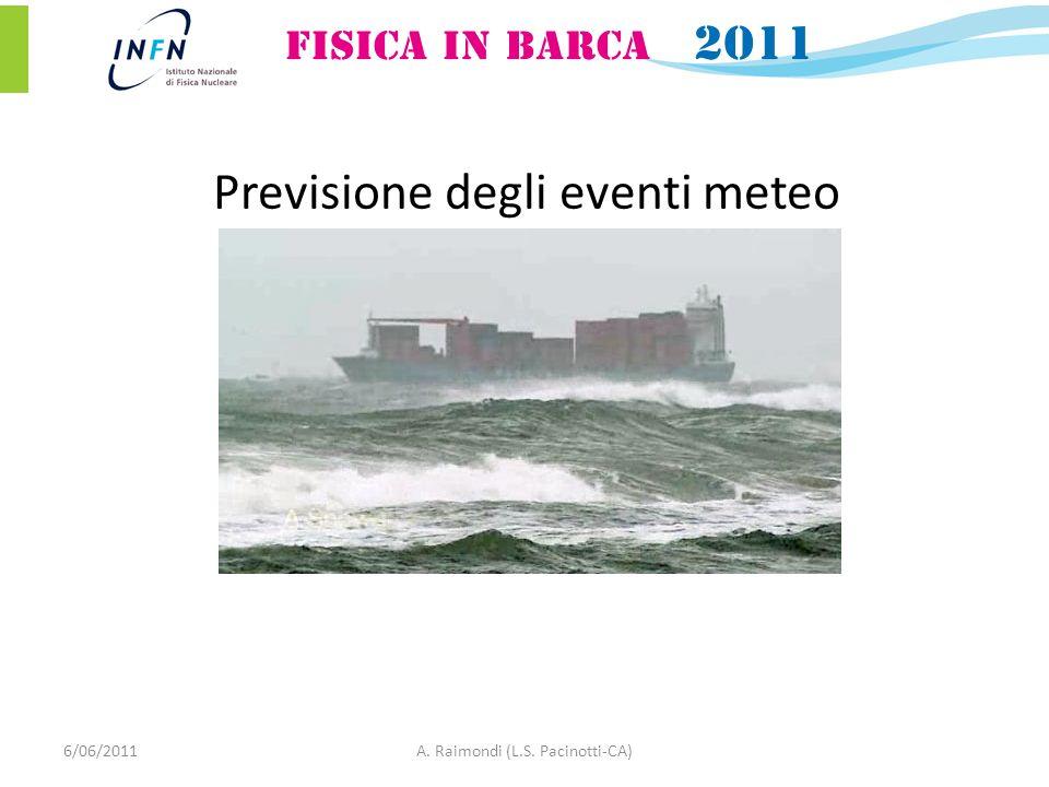 6/06/2011A. Raimondi (L.S. Pacinotti-CA) Previsione degli eventi meteo