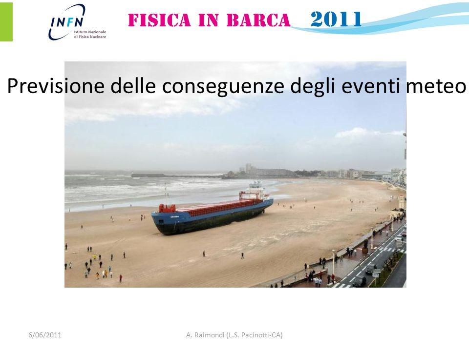 6/06/2011A. Raimondi (L.S. Pacinotti-CA) Previsione delle conseguenze degli eventi meteo