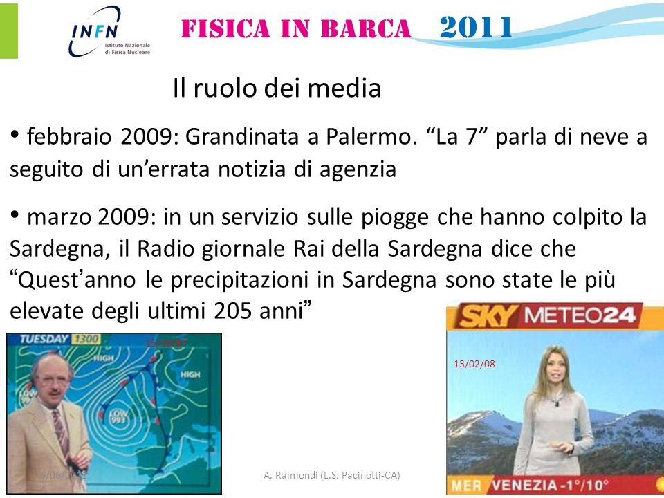 febbraio 2009: Grandinata a Palermo. La 7 parla di neve a seguito di unerrata notizia di agenzia marzo 2009: in un servizio sulle piogge che hanno col