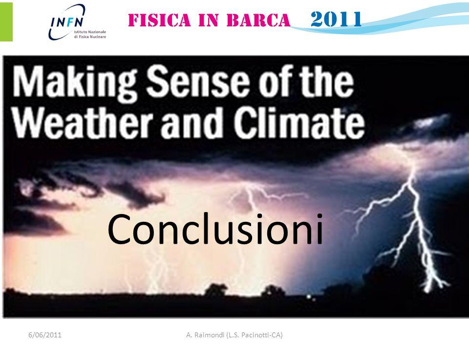 6/06/2011A. Raimondi (L.S. Pacinotti-CA) Conclusioni