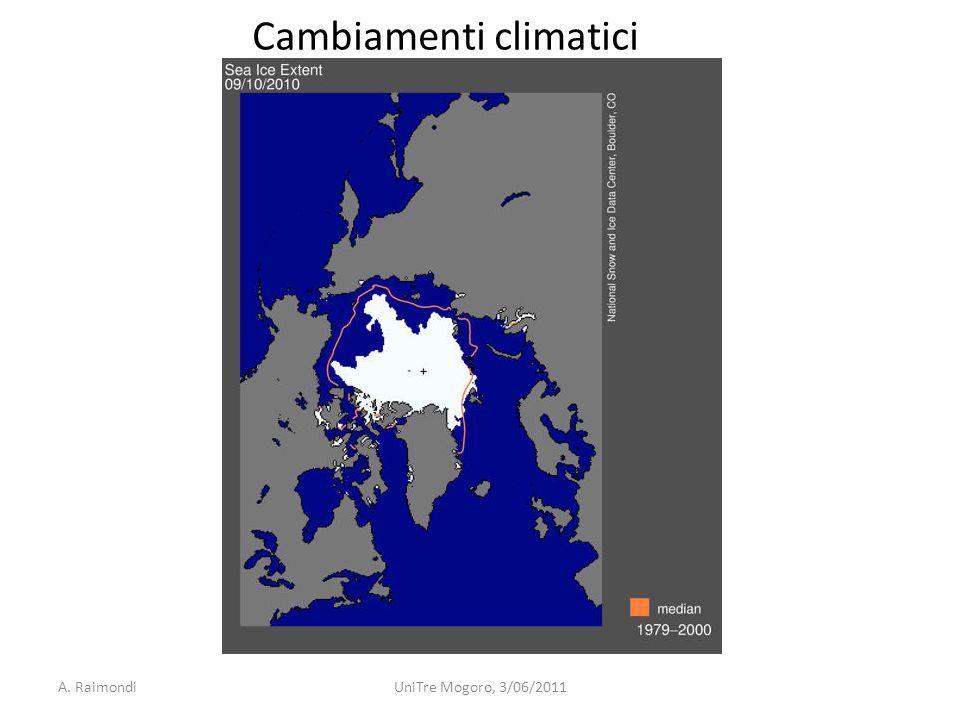 A. RaimondiUniTre Mogoro, 3/06/2011 Cambiamenti climatici