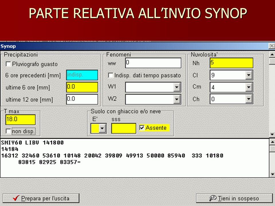 PARTE RELATIVA ALLINVIO SYNOP