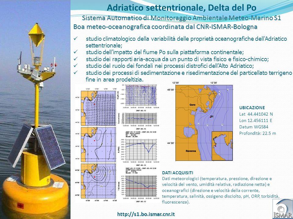 Title Adriatico settentrionale, Delta del Po Sistema Automatico di Monitoraggio Ambientale Meteo-Marino S1 Boa meteo-oceanografica coordinata dal CNR-