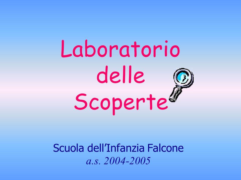 Laboratorio delle Scoperte Scuola dellInfanzia Falcone a.s. 2004-2005