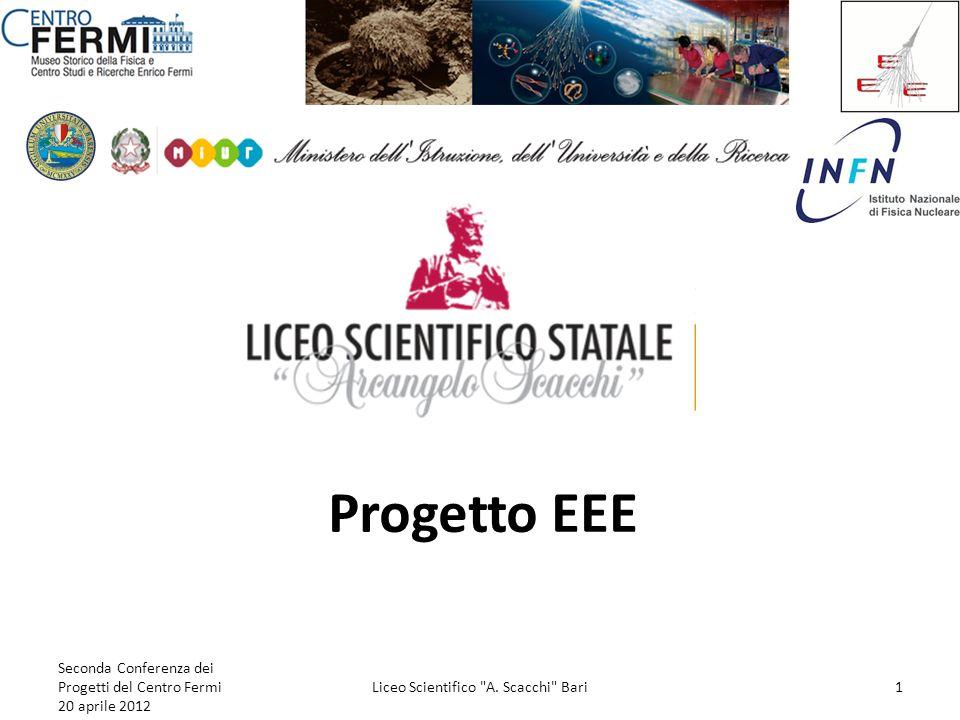 Progetto EEE Seconda Conferenza dei Progetti del Centro Fermi 20 aprile 2012 Liceo Scientifico
