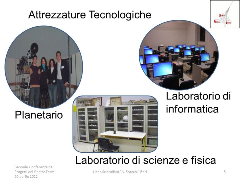 Seconda Conferenza dei Progetti del Centro Fermi 20 aprile 2012 Liceo Scientifico