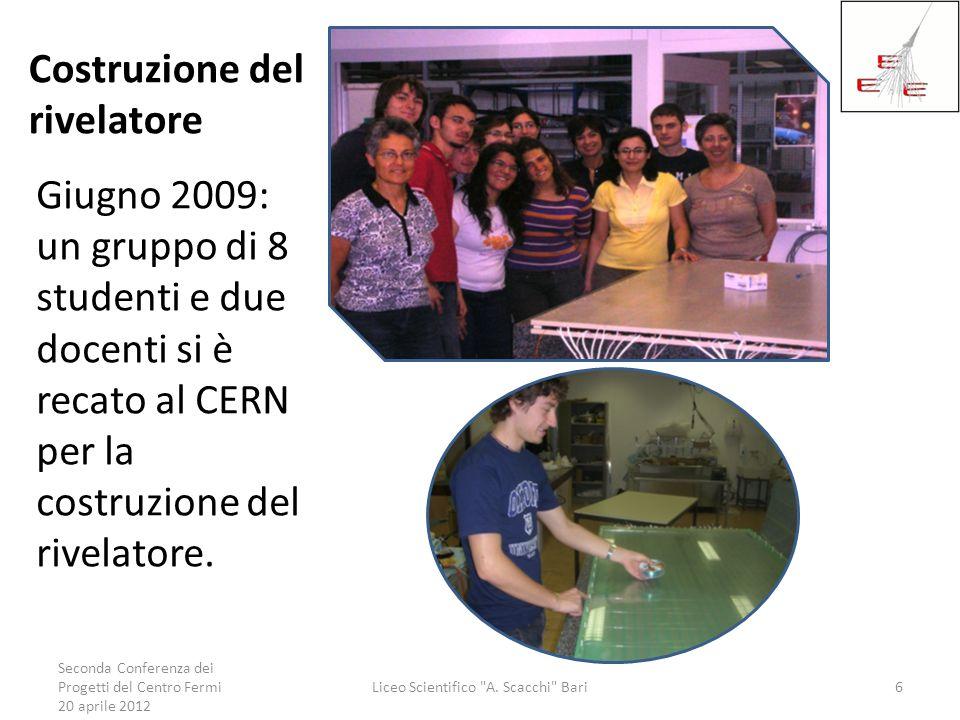 Costruzione del rivelatore Giugno 2009: un gruppo di 8 studenti e due docenti si è recato al CERN per la costruzione del rivelatore. Seconda Conferenz