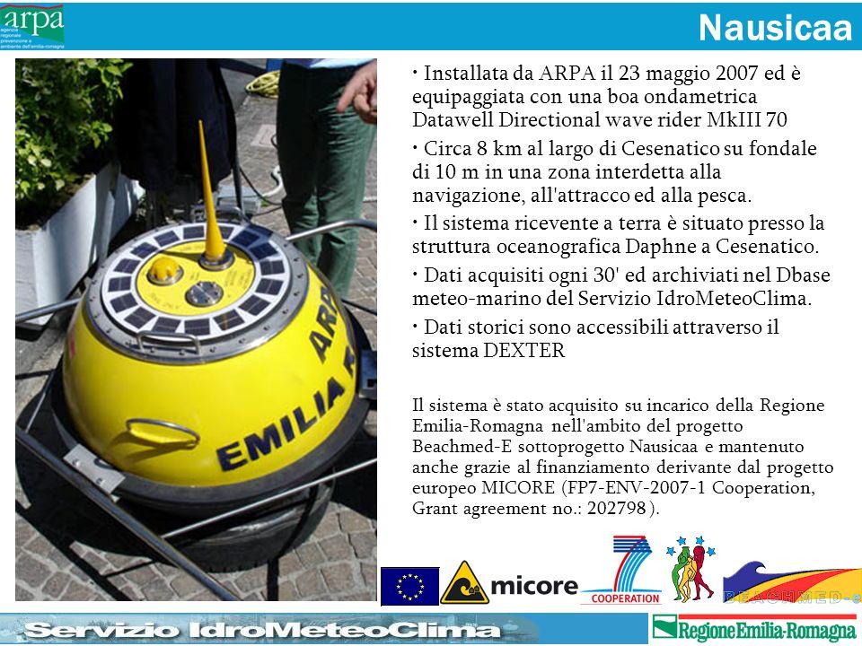 Installata da ARPA il 23 maggio 2007 ed è equipaggiata con una boa ondametrica Datawell Directional wave rider MkIII 70 Circa 8 km al largo di Cesenat