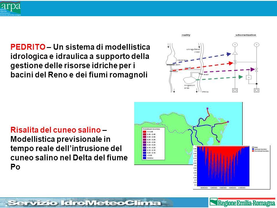 PEDRITO – Un sistema di modellistica idrologica e idraulica a supporto della gestione delle risorse idriche per i bacini del Reno e dei fiumi romagnol