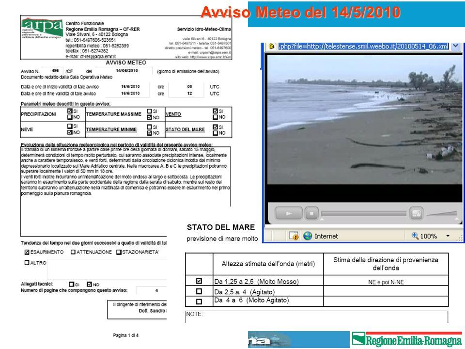 Avviso Meteo del 14/5/2010