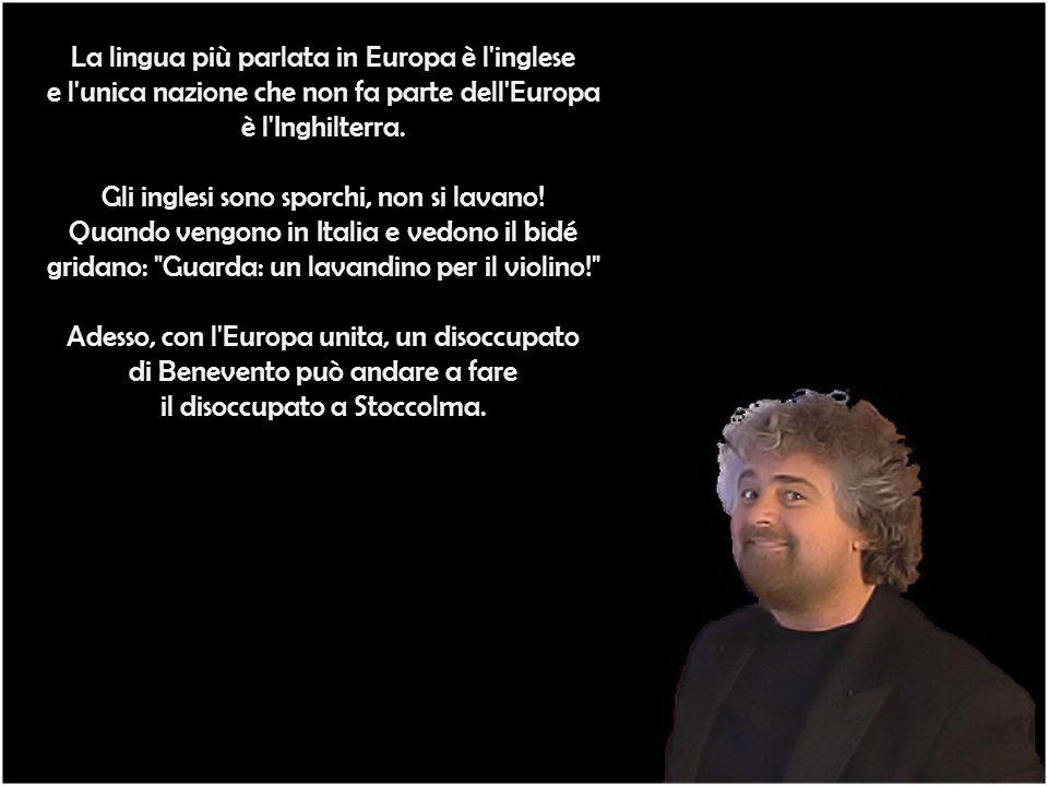 La lingua più parlata in Europa è l inglese e l unica nazione che non fa parte dell Europa è l Inghilterra.