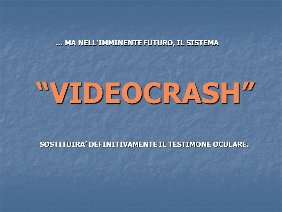 SOSTITUIRA DEFINITIVAMENTE IL TESTIMONE OCULARE. VIDEOCRASH … MA NELLIMMINENTE FUTURO, IL SISTEMA